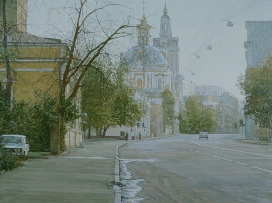 Sunday's Moscow. Staraya Basmannaya street