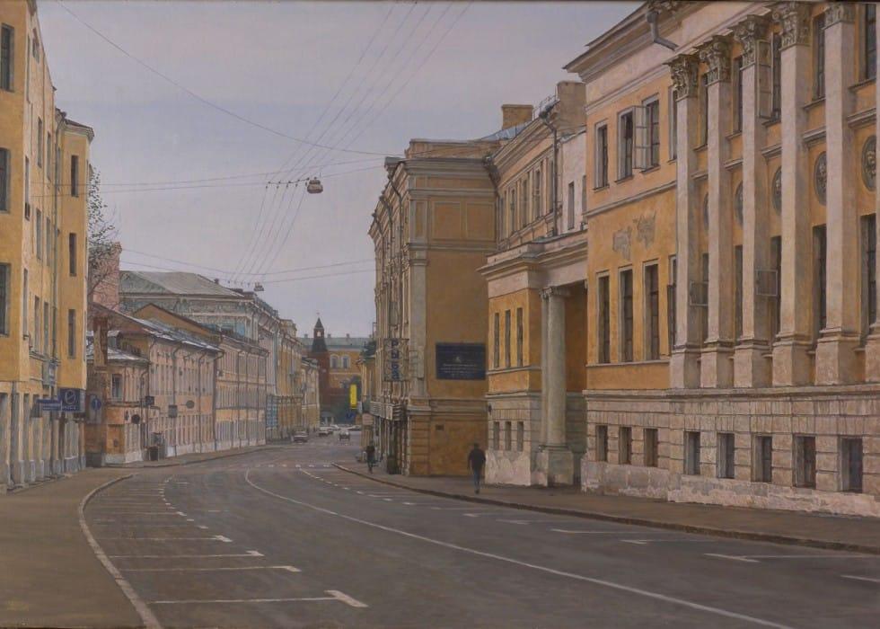 Sunday's Moscow. Bolshaia Nikitskaya street