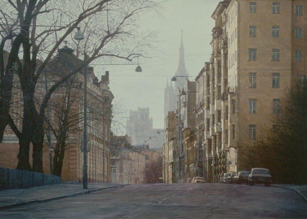 Sunday's Moscow. Povarskaya street