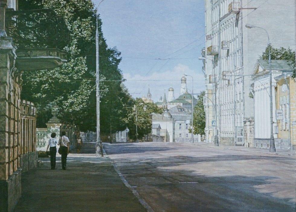 Sunday's Moscow. Prechistenka