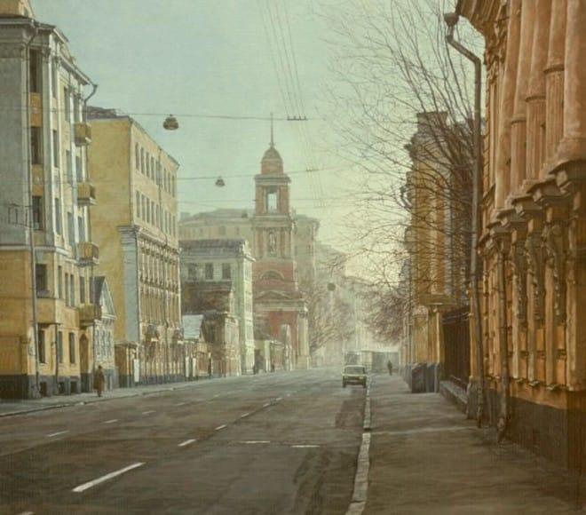 Sunday's Moscow. Pyatnitskaya street