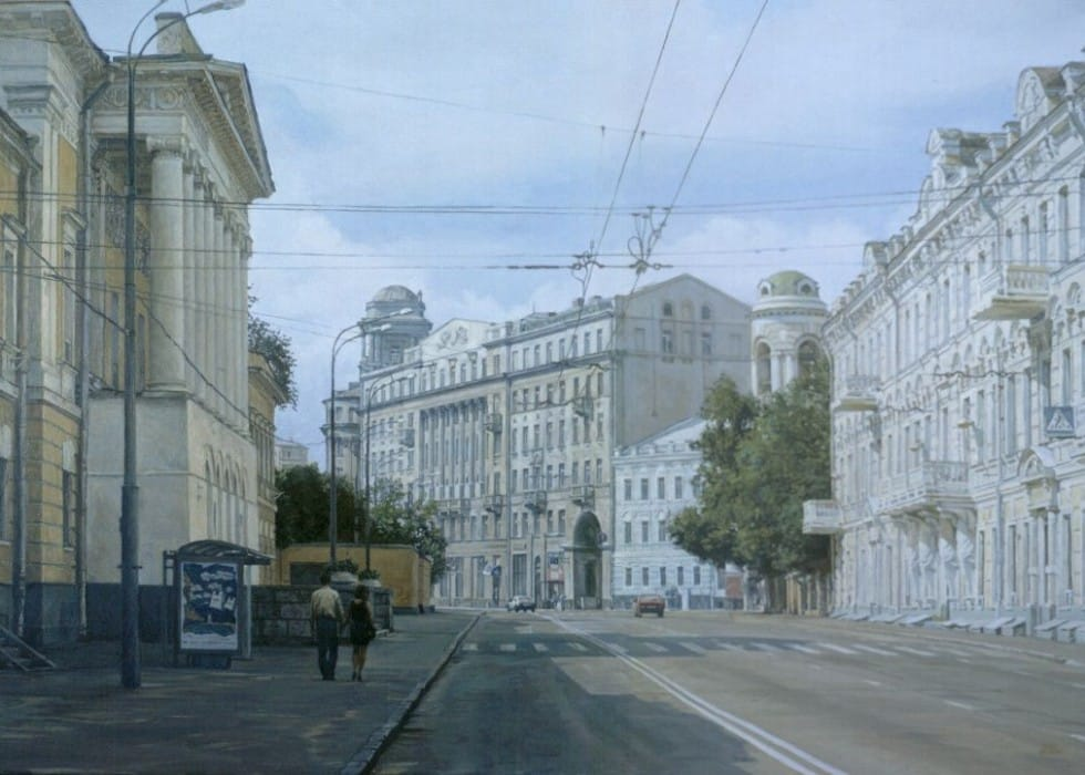 Sunday's Moscow. Solyanka street